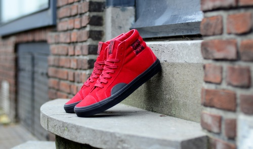 27f6b2290dd Vans Style 238 Native Suede Red Black
